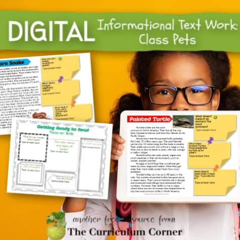 Digital Informational Text: Class Pets