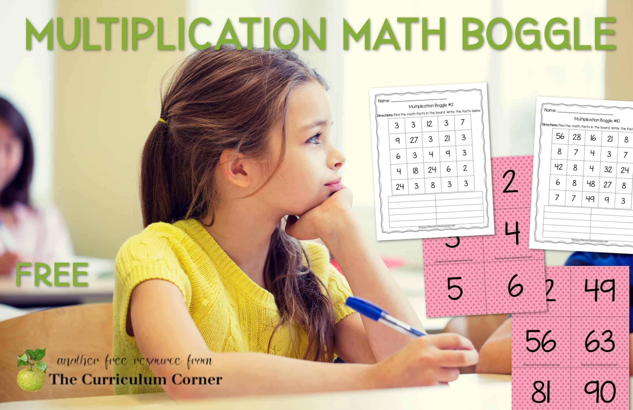 Multiplication Boggle Math