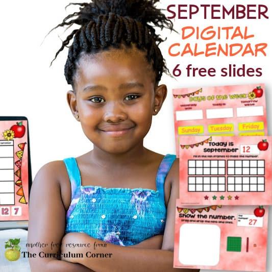 September Digital Calendar