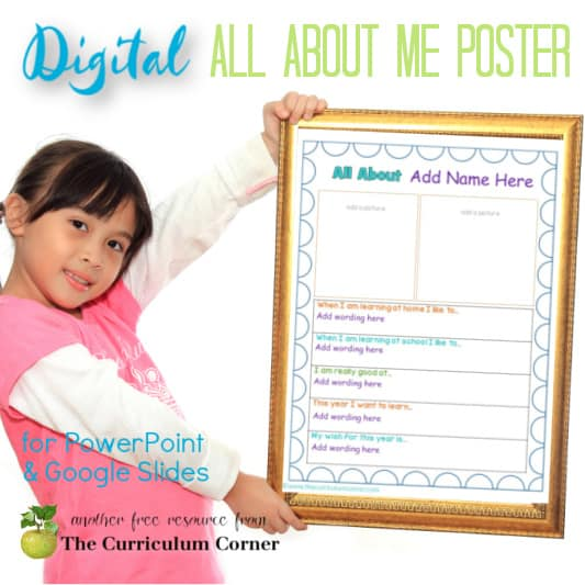 Digital All About Me Poster