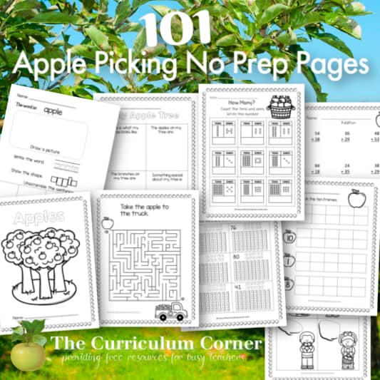 Apple Picking No Prep Pages