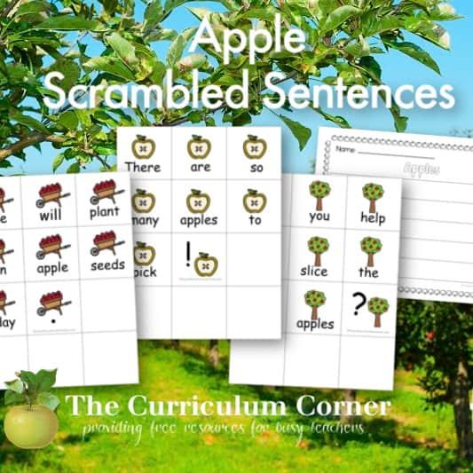 Apples Scrambled Sentences