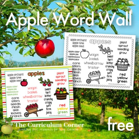 Apple Word Wall