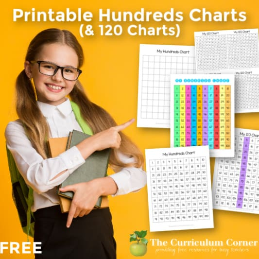 Printable Hundreds Charts (& 120 Charts)