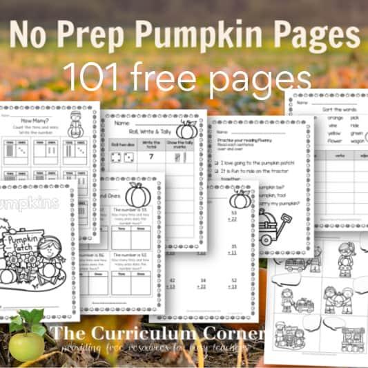 Pumpkin No Prep pages