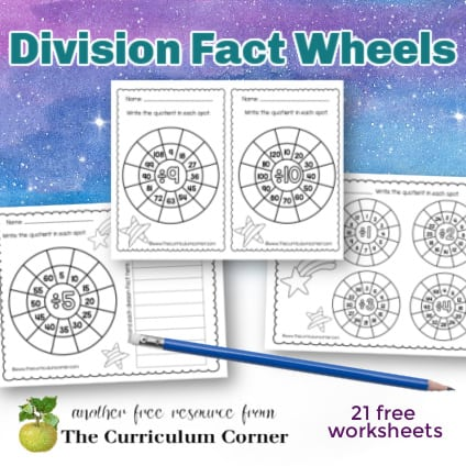 Division Math Fact Wheels