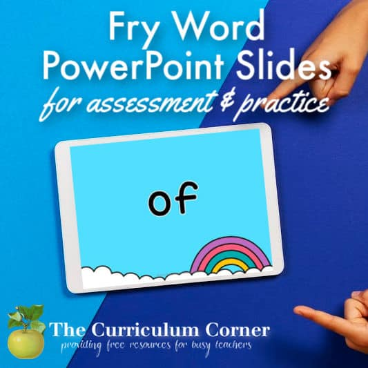 Fry Word PowerPoint