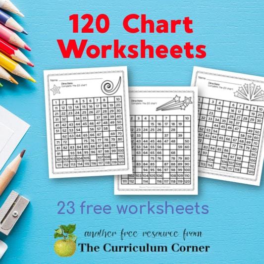 120 Chart Worksheets