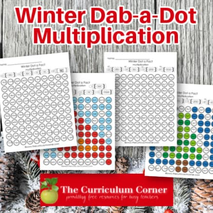 Winter Dab a Dot Multiplication Facts
