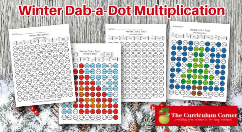 This dab a dot multiplication facts are designed to be used with BINGO daubers for fun math fact practice.