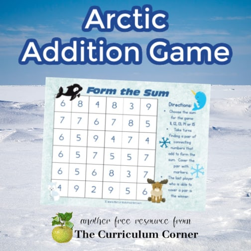 Arctic Animals Addition Game