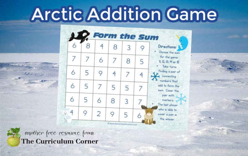 This free Arctic animals addition game can be added to your Arctic collection in the classroom.