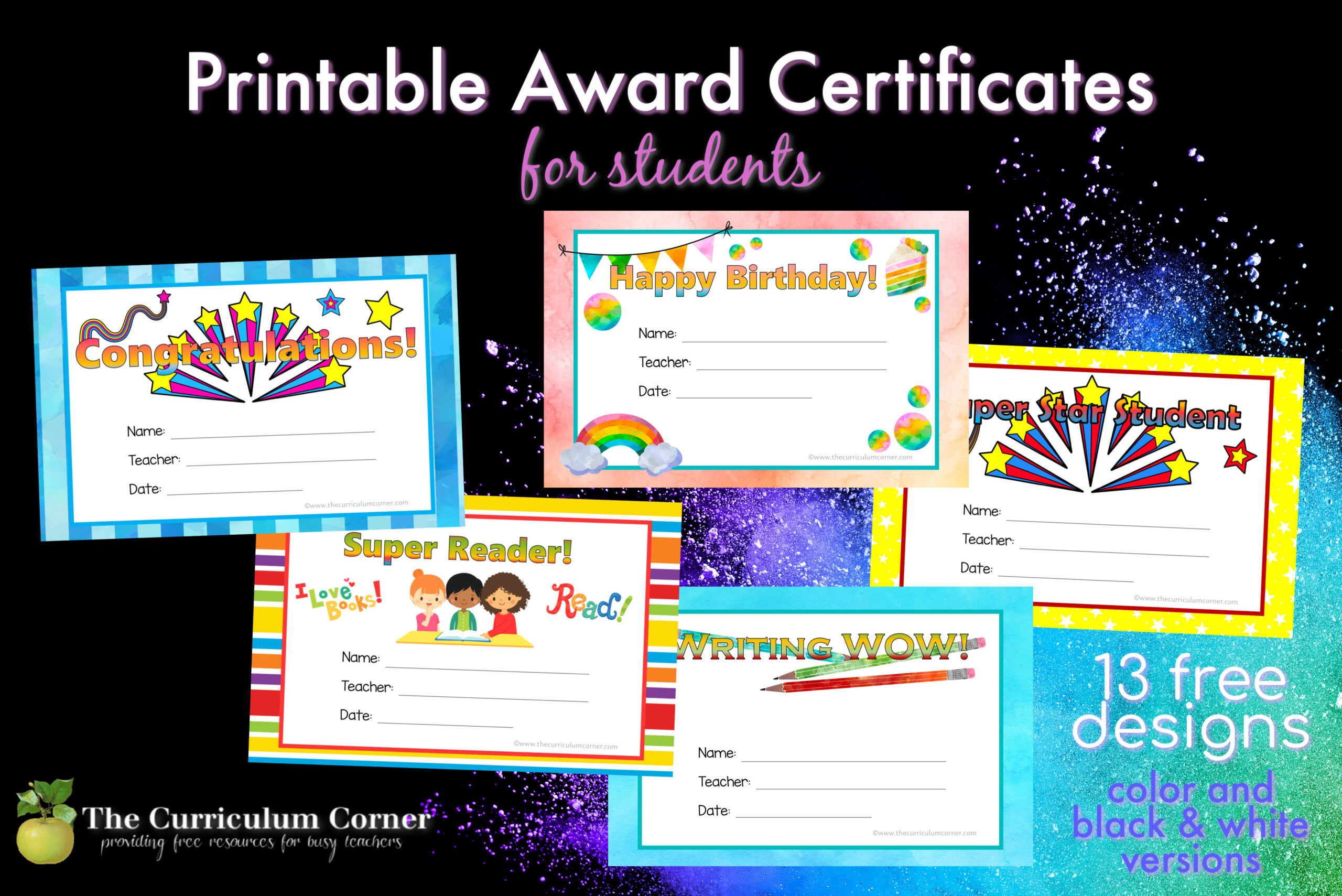 Printable Award Certificates - The Curriculum Corner 21 Throughout Free Funny Award Certificate Templates For Word