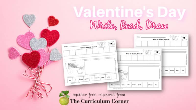 Download these Valentine's Day scrambled sentences to use at a literacy center in February. Free from The Curriculum Corner.