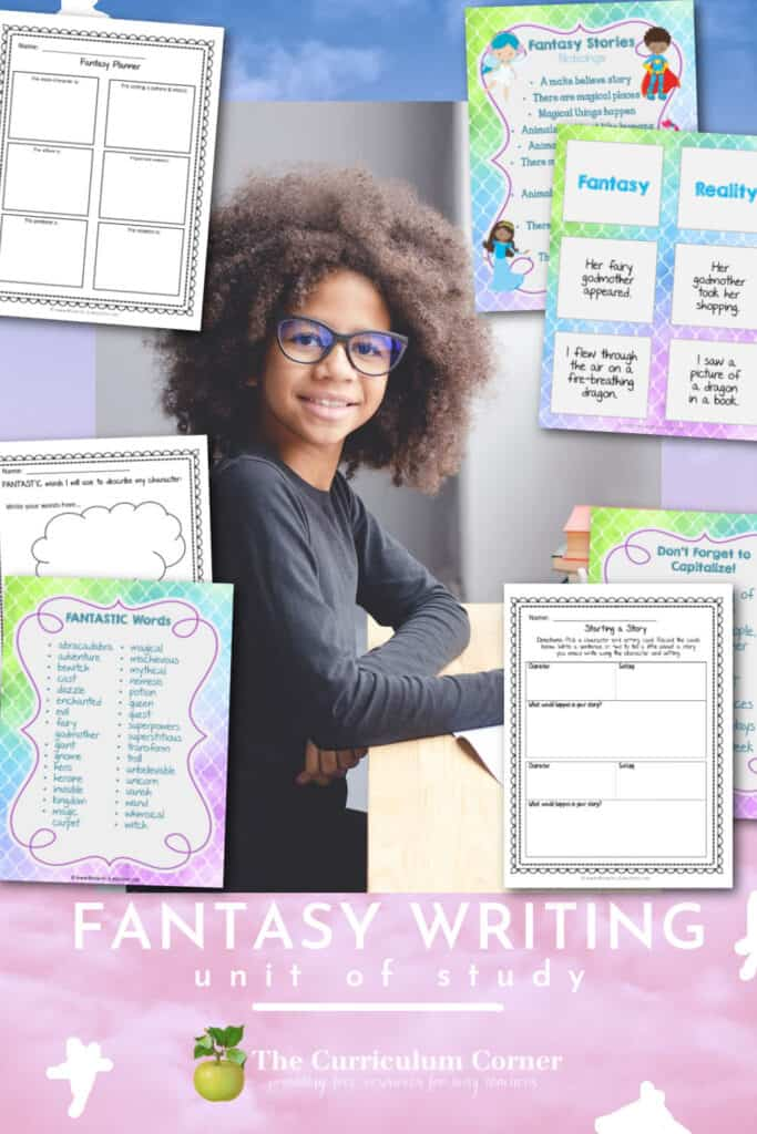 Help guide your students through the fantasy writing process with this fantasy writing unit of study.
