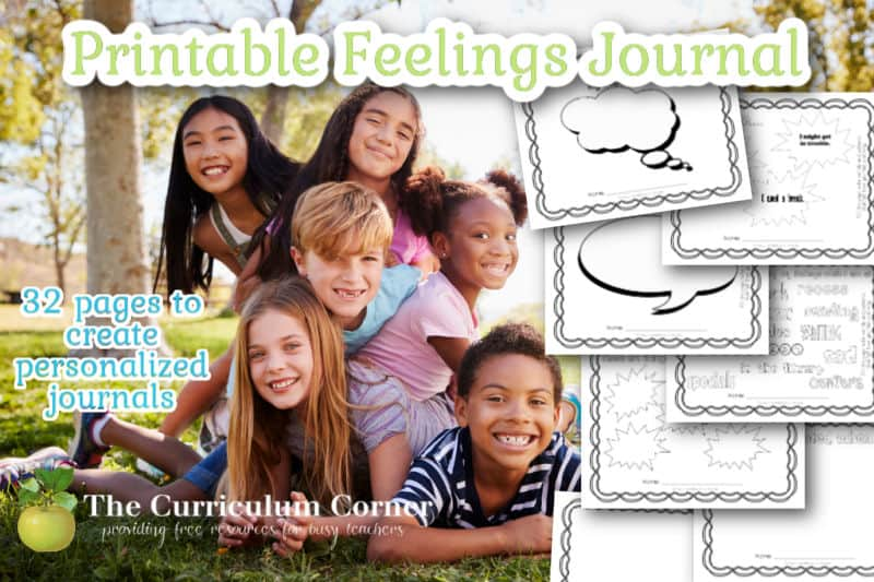 Download this free printable feelings journal PDF to help your children practice sharing and examining their feelings.