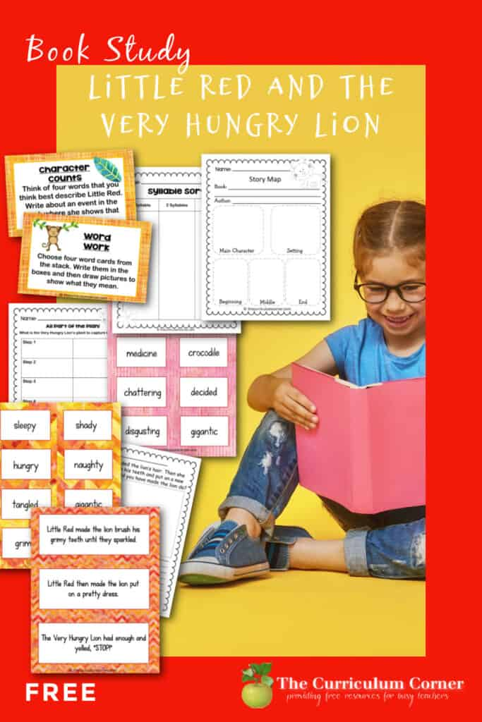 Download this Little Red and the Very Hungry Lion book study as a fun addition to your fairy tale study.