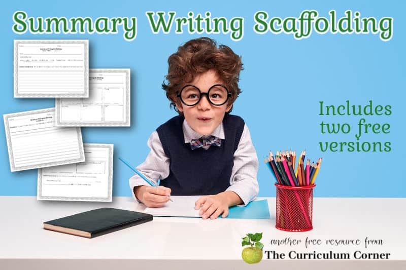 Download this free summary writing scaffolding resource to help your children learn to write a summary after reading fiction.