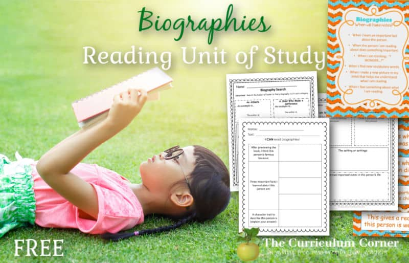 Download this free biography unit of study for reading to help you introduce and work with biographies in the classroom.