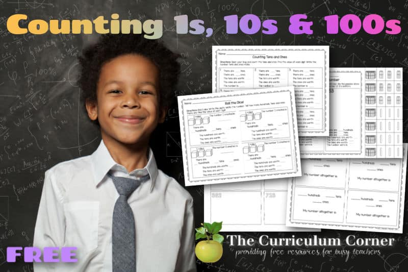 When working with students counting ones, tens and hundreds, add these free activities to your collection.
