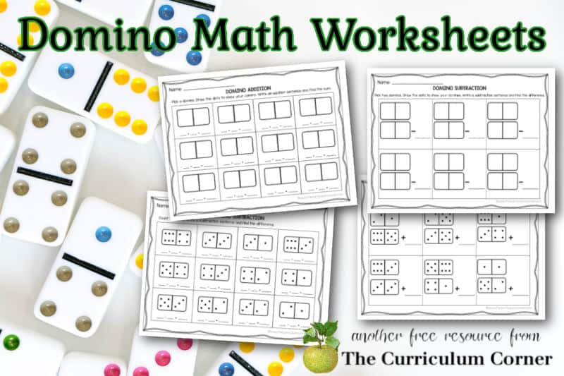 These free domino math worksheets are designed to help your children practice addition and subtraction with dominoes.