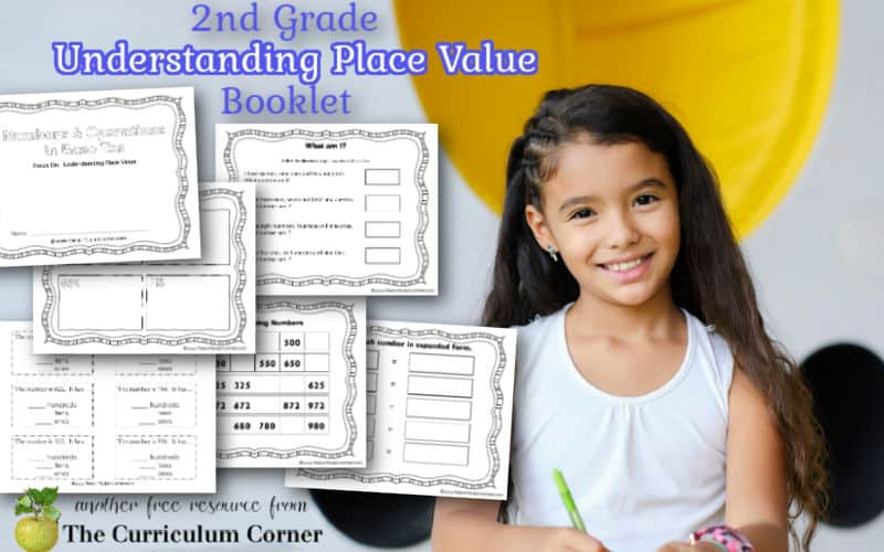 Download this free understanding 2nd grade place value booklet to give your children practice with place value and number sense skills. Free from The Curriculum Corner.