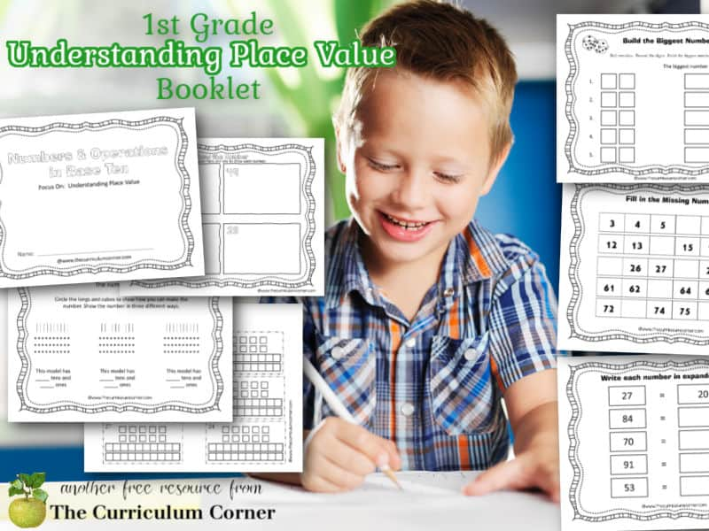 Print these free understanding place value booklet for 1st grade to help your students working on building number sense skills.