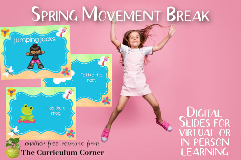 Download this spring movement break to offer your students a brain break during your day of distance or in-person learning.