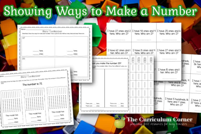 Build number sense with these showing ways to make a number activities for first and second graders.