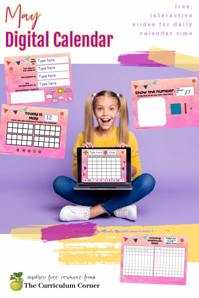 You can download this free May digital calendar to add to your distance learning or in-person teaching this spring.