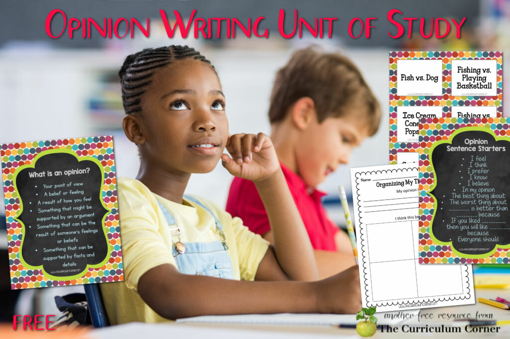 Download our free opinion writing unit of study for primary classrooms to help you plan your writing instruction.