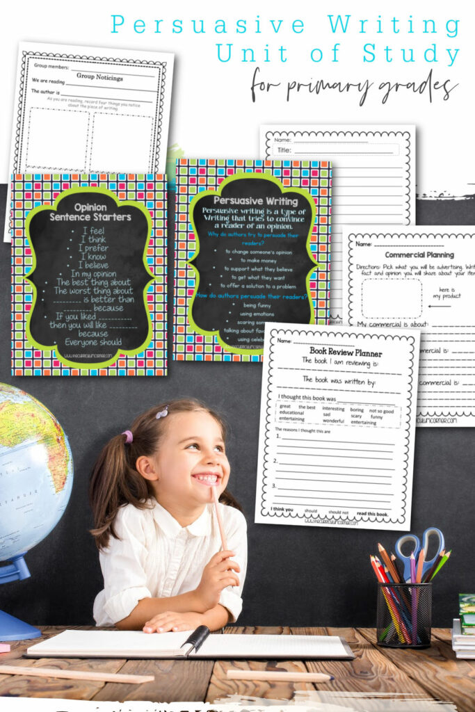 This free persuasive writing unit of study is designed to fit into your 1st, 2nd or 3rd grade writing workshop. Created by The Curriculum Corner.