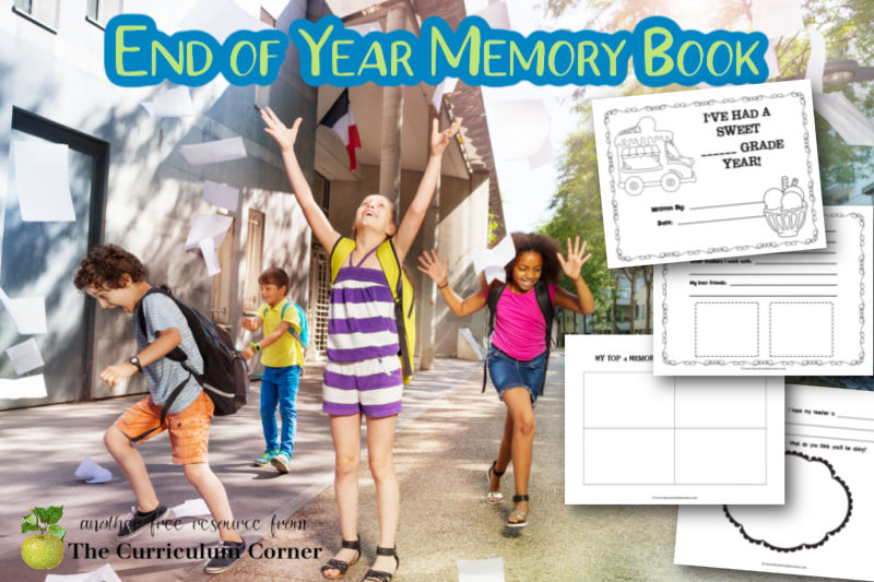 Download this free end of year memory book PDF to help your children celebrate the last day of school.