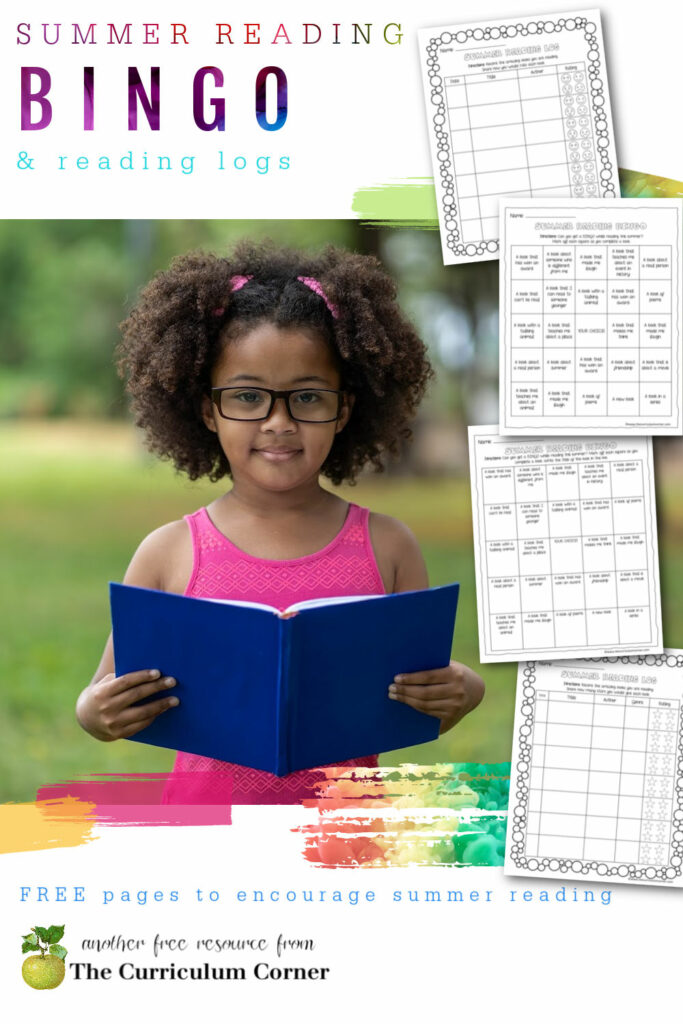 Free set of summer reading BINGO and summer reading log printables to keep your students reading over the summer.