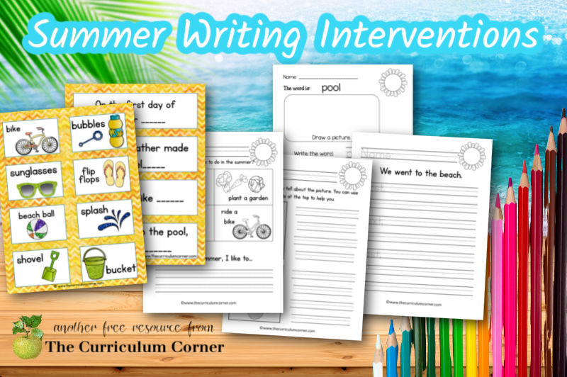 These summer writing interventions are designed to help students who need help when beginning their writing.