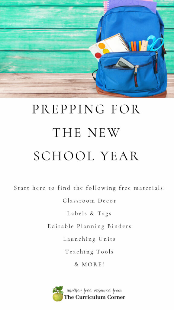 Prepare for the new school year with these free materials