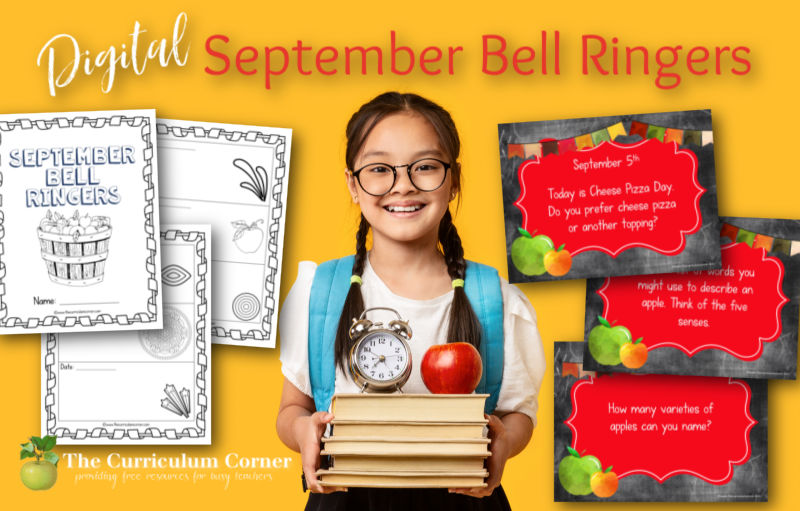 You can download this set of free digital September Bell Ringers to help you plan for your morning entry in the classroom.