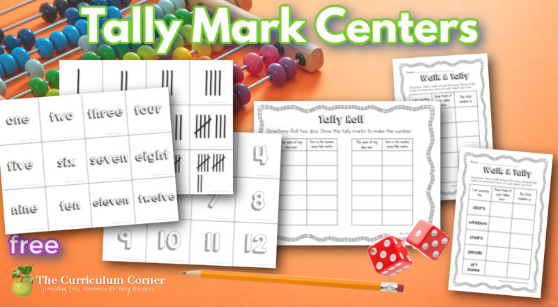 Use these tally mark centers to help children master the skill of reading and writing tallies during your math workshop.