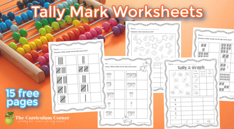 Use these tally marks worksheets to help your students practice reading and writing tally marks during math class.