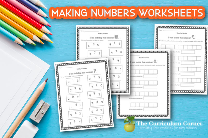 Add these free making numbers worksheets to your math collection to help your students learn how to build numbers.