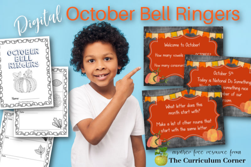 Add these free Digital October Bell Ringers to your morning welcome collection for the fall.