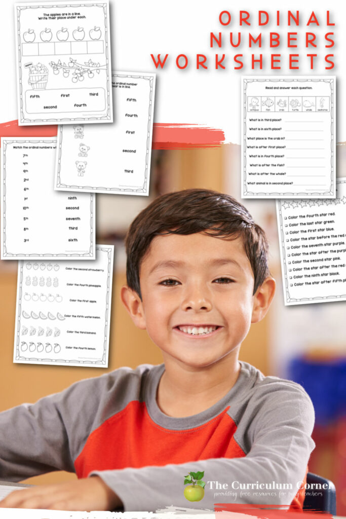 This free set of ordinal numbers worksheets will help your students develop an understanding of ordinal numbers.