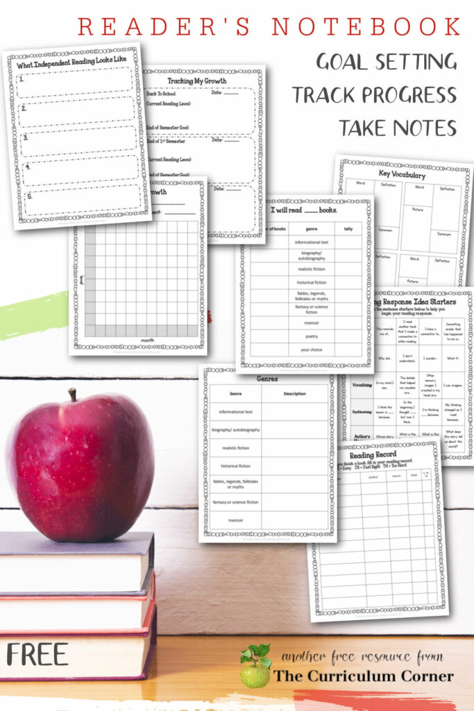 A Reader's Notebook will help your children set goals, keep track of their reading and learn to take notes while reading.
