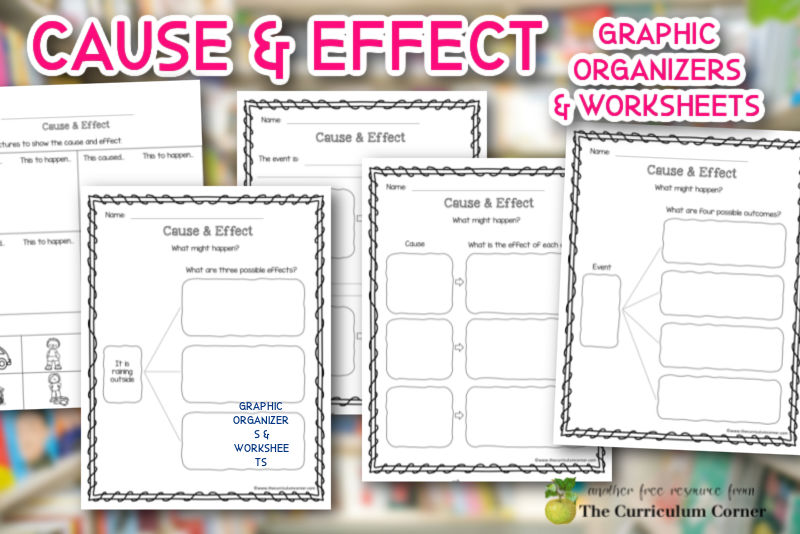 We are providing a collection of cause and effect examples and graphic organizers to use during your reading instruction.