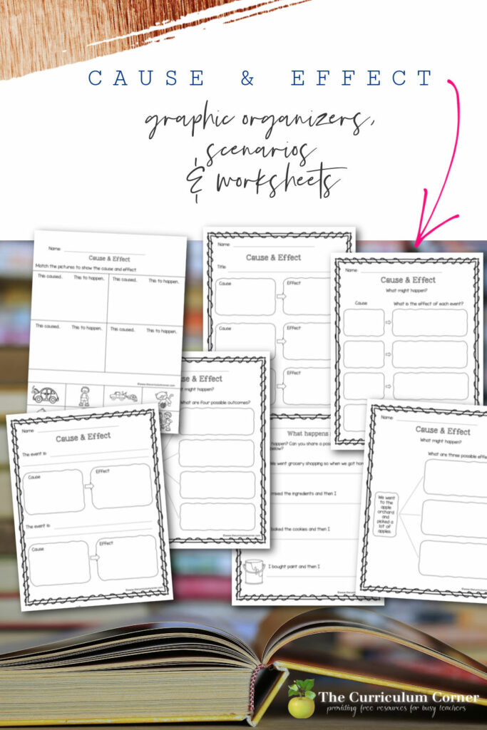 We are providing a collection of cause and effect scenarios and graphic organizers to use during your reading instruction.