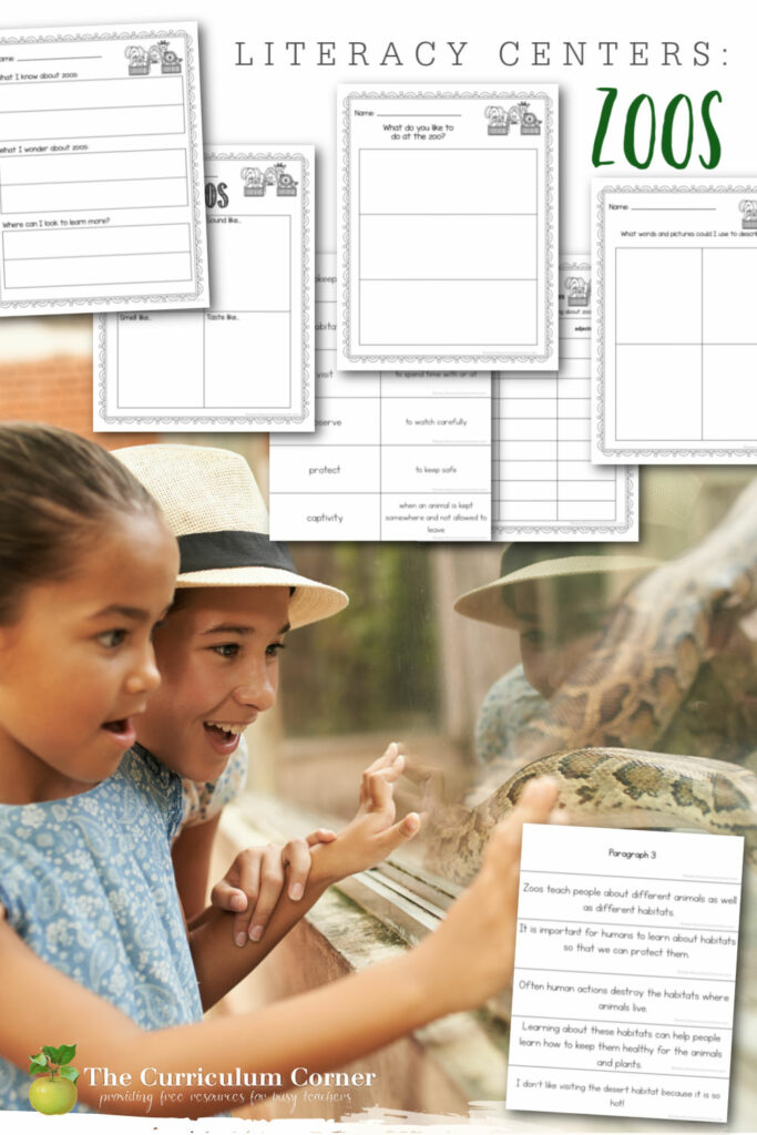 You can use these resources on zoos to help create engaging literacy centers for your students in second and third grades.