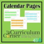 Printable Calendar Pages for your Student Planning Binder