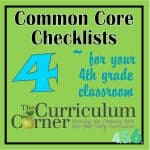 4th Grade Common Core Checklists