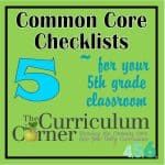 Common Core 5th Grade Checklists