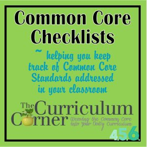 The Common Core State Standards Checklists for 7th and 8th Grades